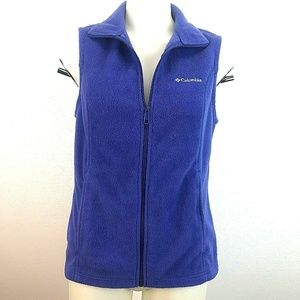 Columbia Womens Sz S Vest Flannel Purple